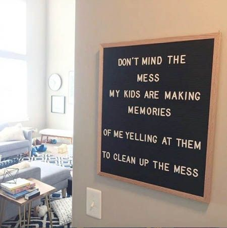 Letter board memories