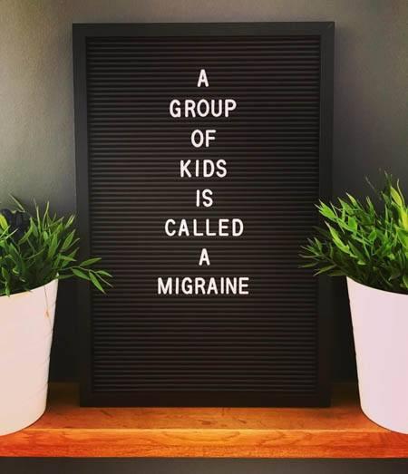 letter board migraine