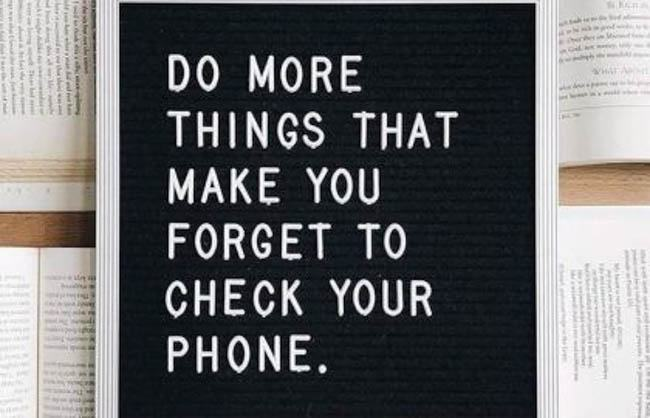 letter board check phone