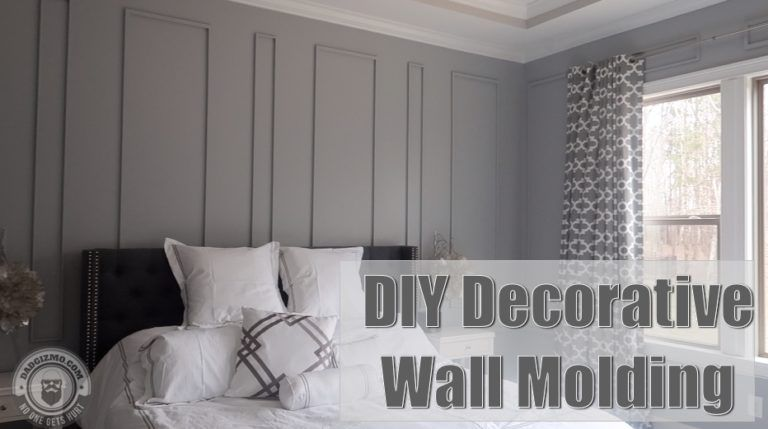DIY Decorative Wall Molding | House Tour Sneak Peek