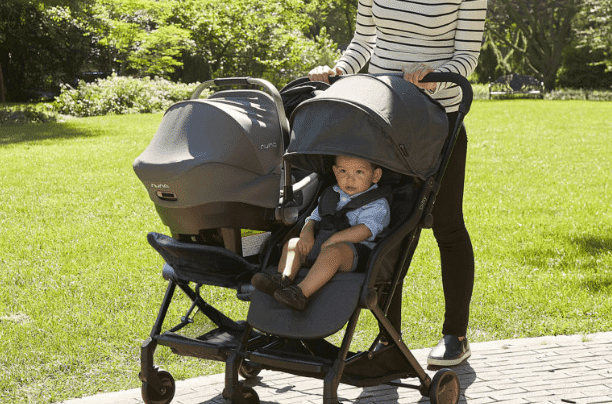 Double travel system stroller