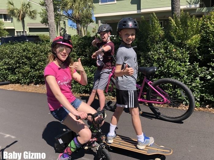 kids riding skateboards