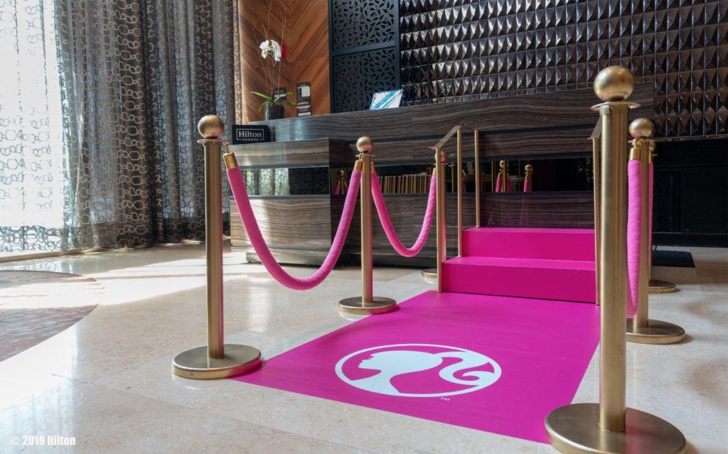 Barbie Themed Hotel Room