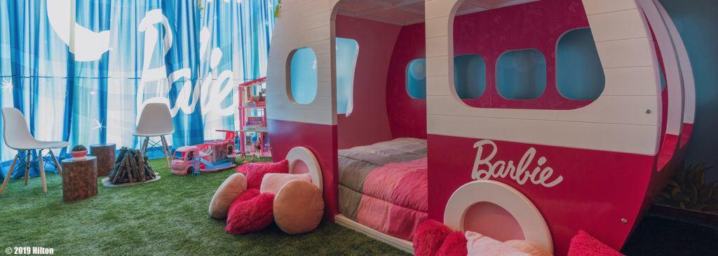 Barbie Themed Room at Hilton Mexico City Santa Fe