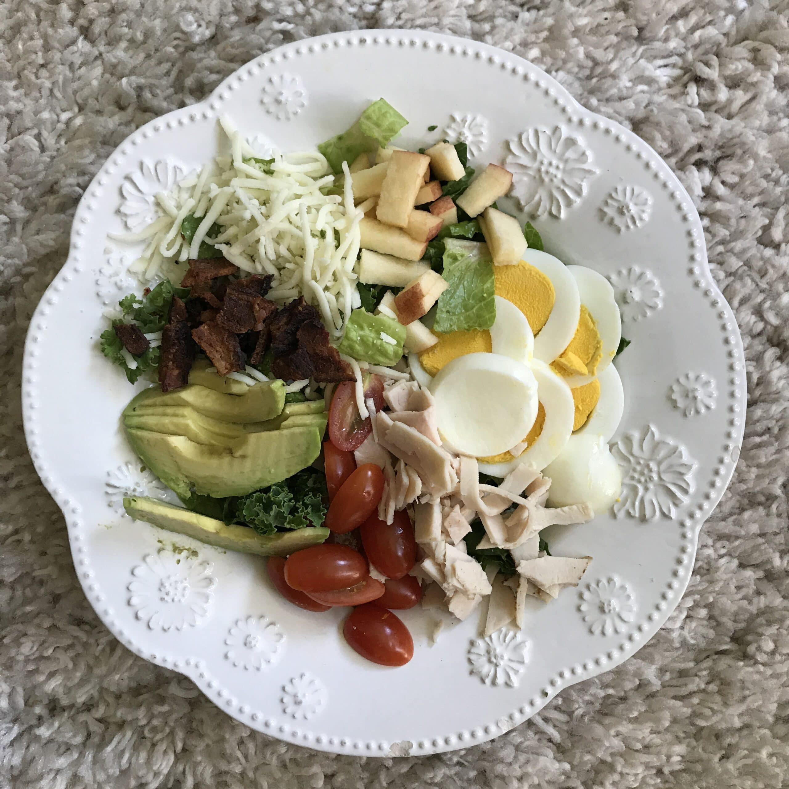 cobb salad on plate