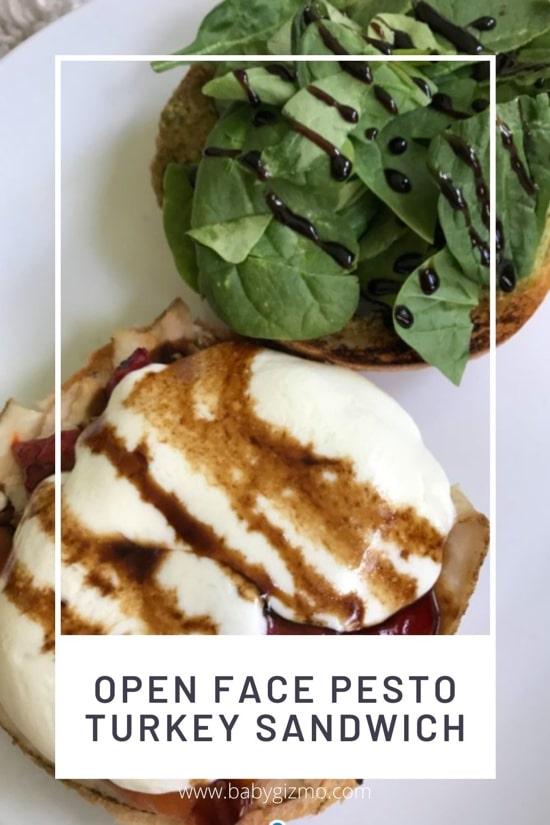Open Face Pesto Turkey Sandwich