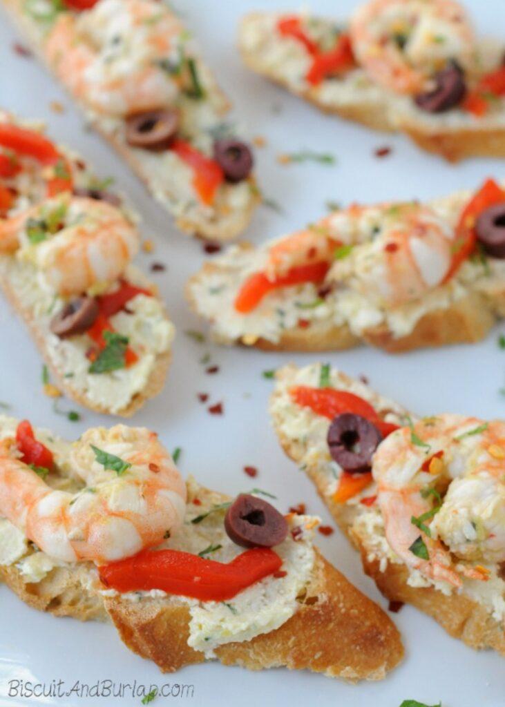 Greek Shrimp Crostini