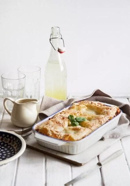 vegetable lasagna with alfredo sauce