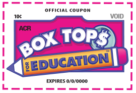 Old Box Tops for Education label