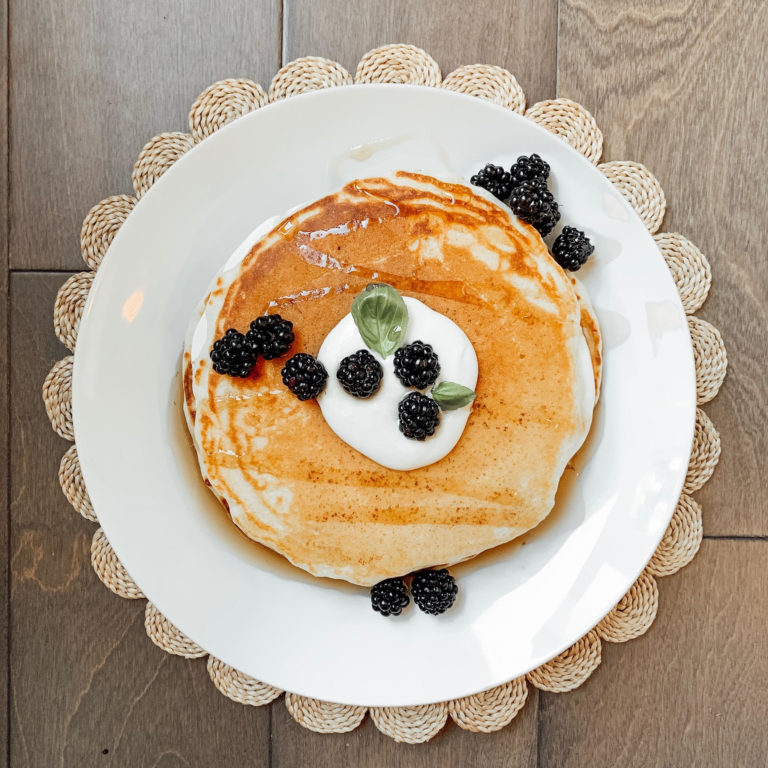 Orange and Berry Cream Stuffed Pancakes