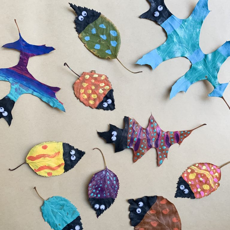Painted Leaf Critter Art Project