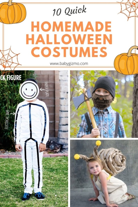 Ten Quick, Homemade Halloween Costumes