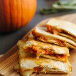 pumpkin and brie quesadilla