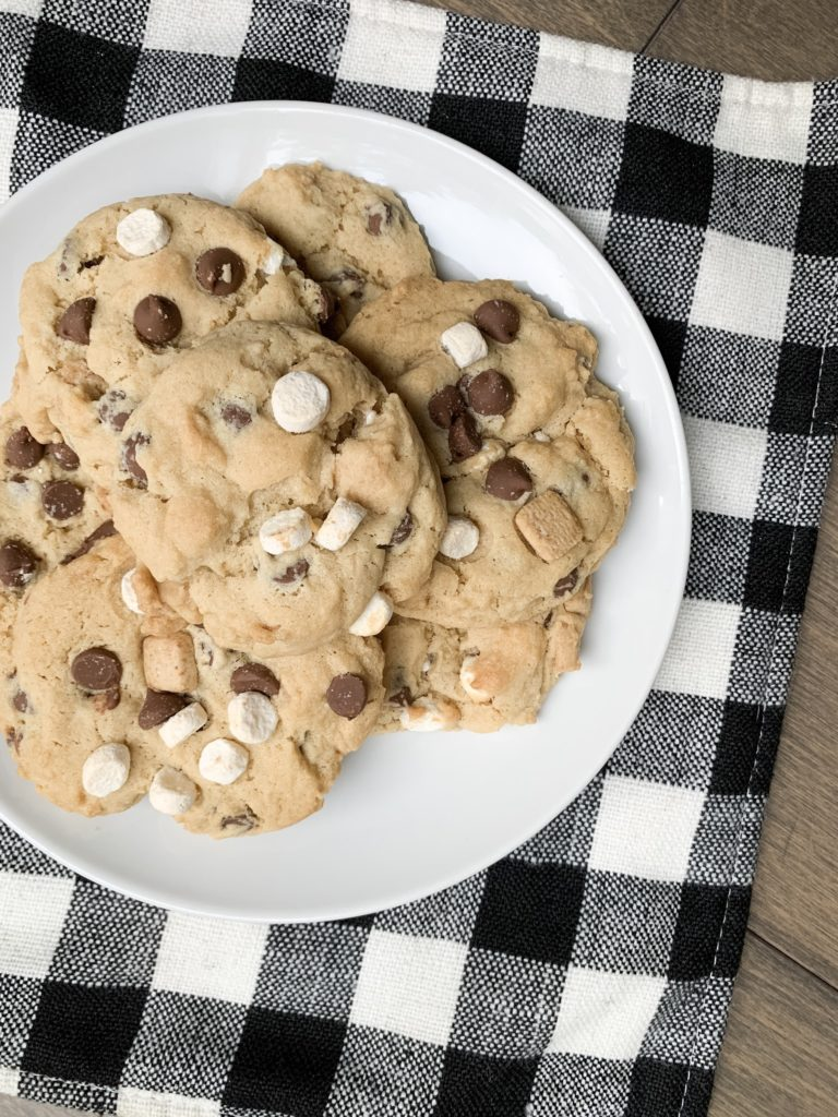 stack of cookies on white plate