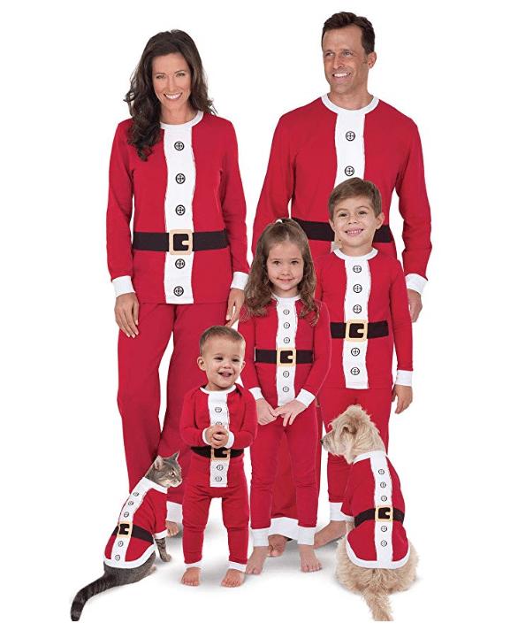 santa pajamas for family