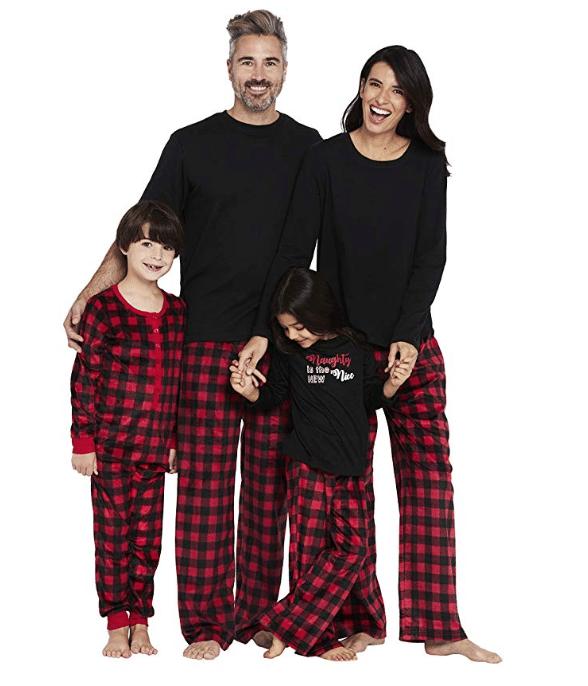 holiday plaid pajamas