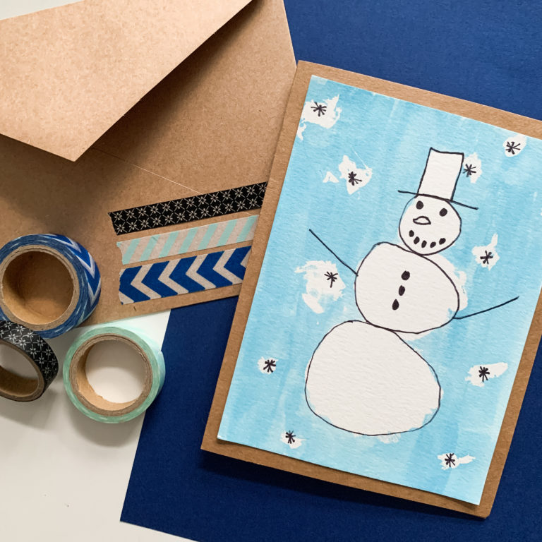 Snowman Greeting Card Craft