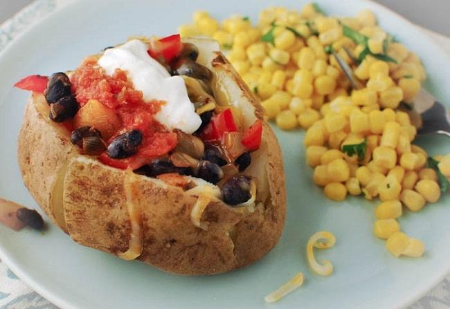baked potato meal