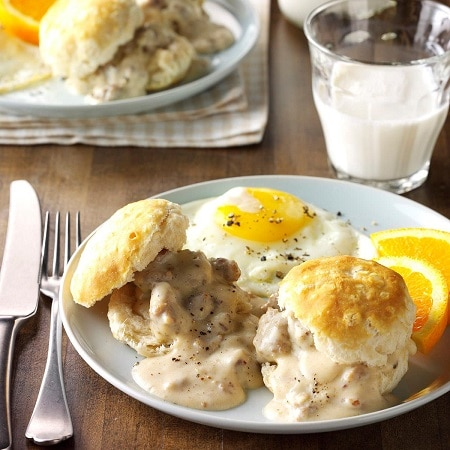 biscuits and gravy meal