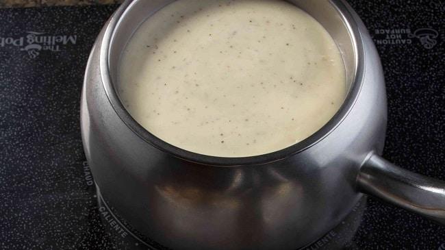 cheese fondue meal