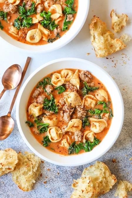 tortellini soup meal