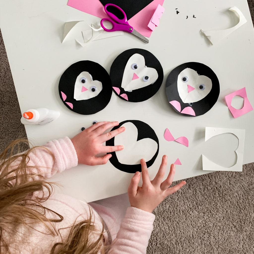 Penguin Craft - Valentine's Day Craft