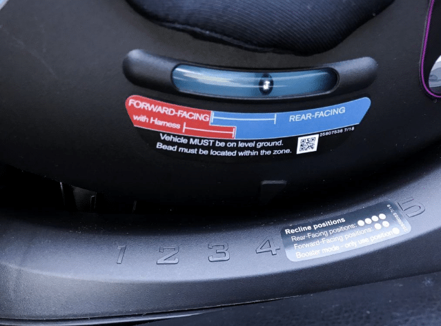 close up of car seat level