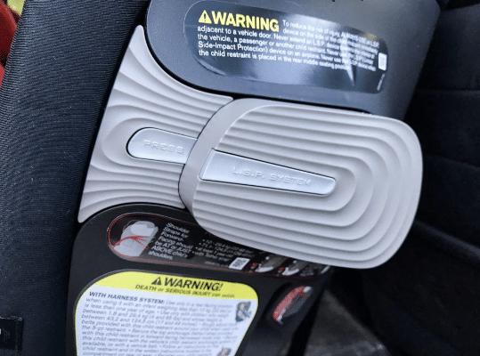 close up of car seat