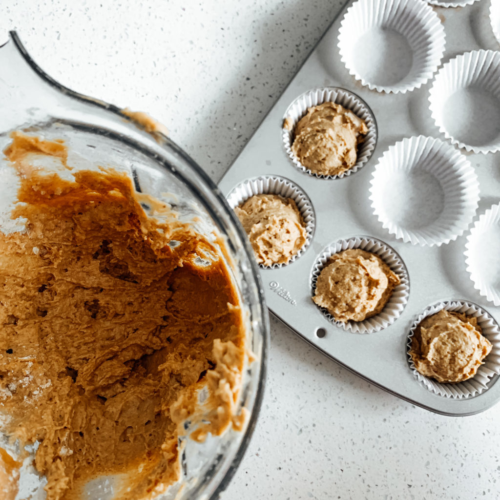 muffin mix in bowl