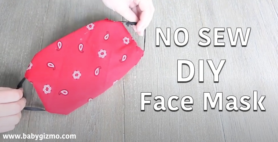 no sew face mask in red