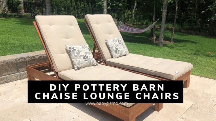 DIY Pottery Barn Single Chaise Lounge Chairs on a Budget
