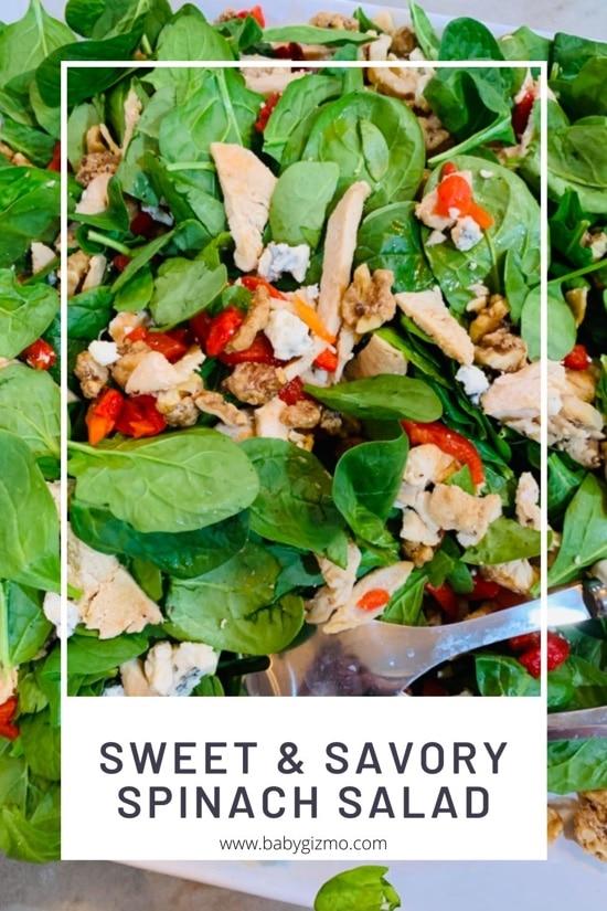 Sweet 'n Savory Spinach Salad