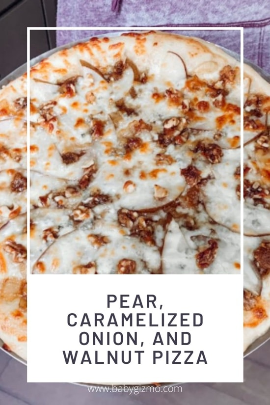 Pear, Caramelized Onion, and Walnut Pizza