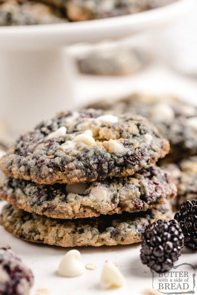blackberry oatmeal cookies