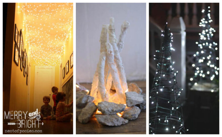 3 Easy and Cute Holiday Lights Décor