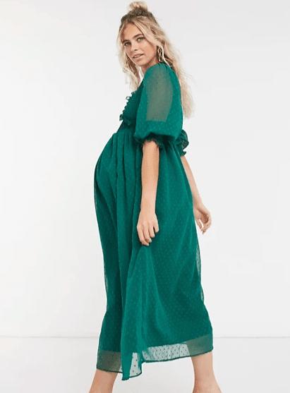Green Maternity Dress