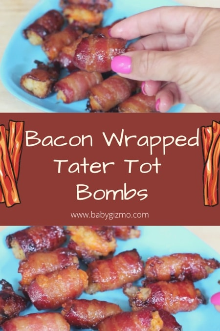Bacon Wrapped Tater Tot Bomb Appetizer Recipe