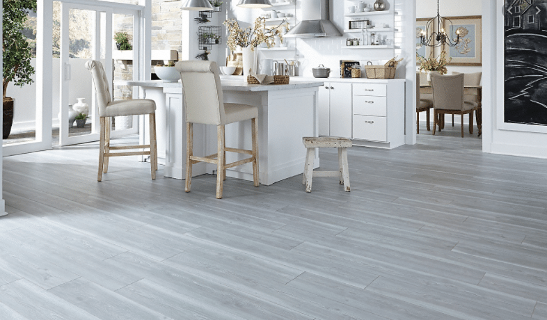 grey floors in a kitchen