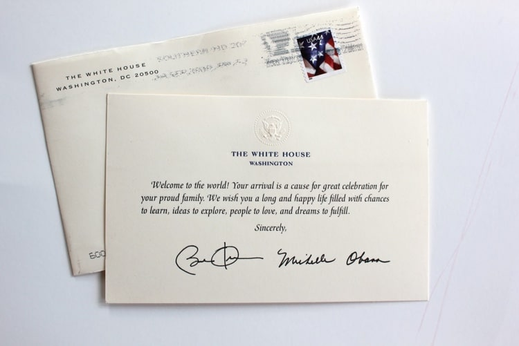 Birth Announcements to the White House