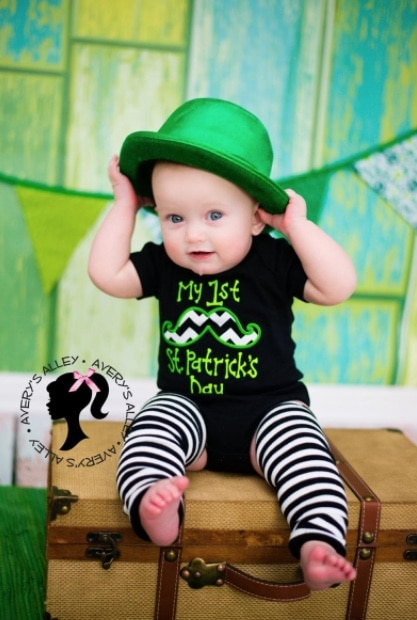 St patricks day fashions for baby green outfits