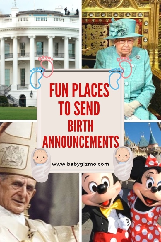 Fun Places to Send Birth Announcements