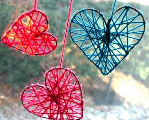 Valentine Heart Yarn House Decoration