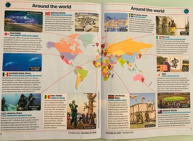 map of world in junior magazine