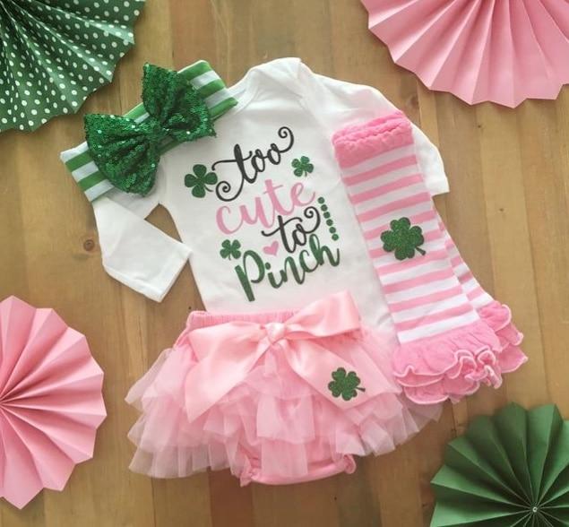 St. Patricks Day Fashion with pink tutu