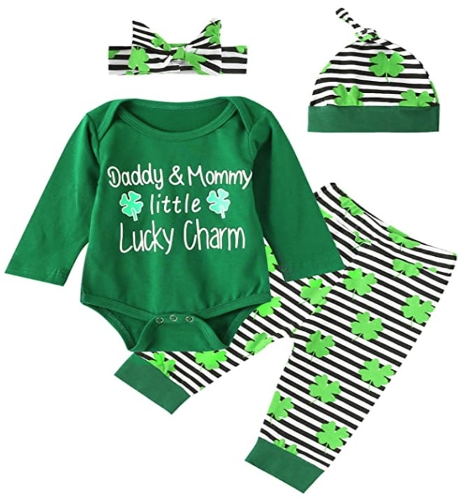 baby layette for st. patricks day
