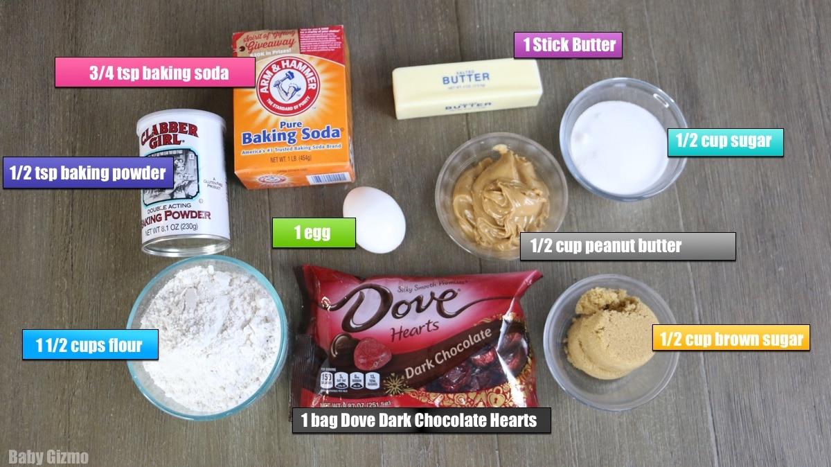peanut butter cookie ingredients