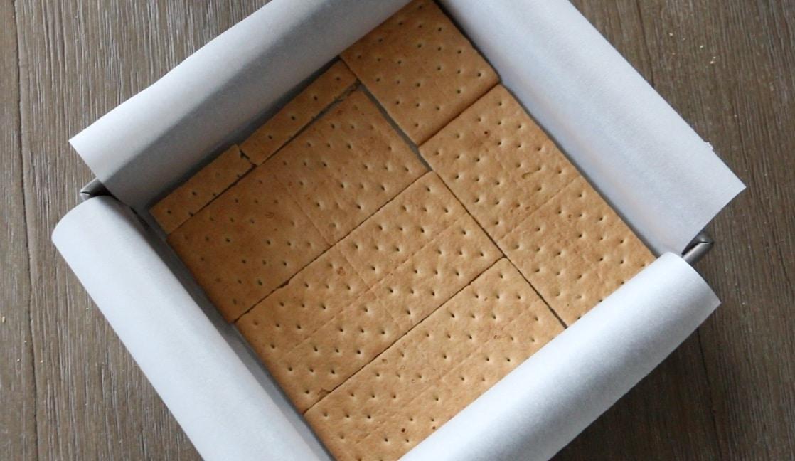 graham cracker in a pan