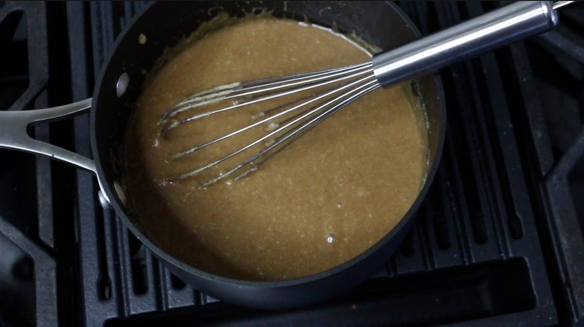 smores paste in a pan