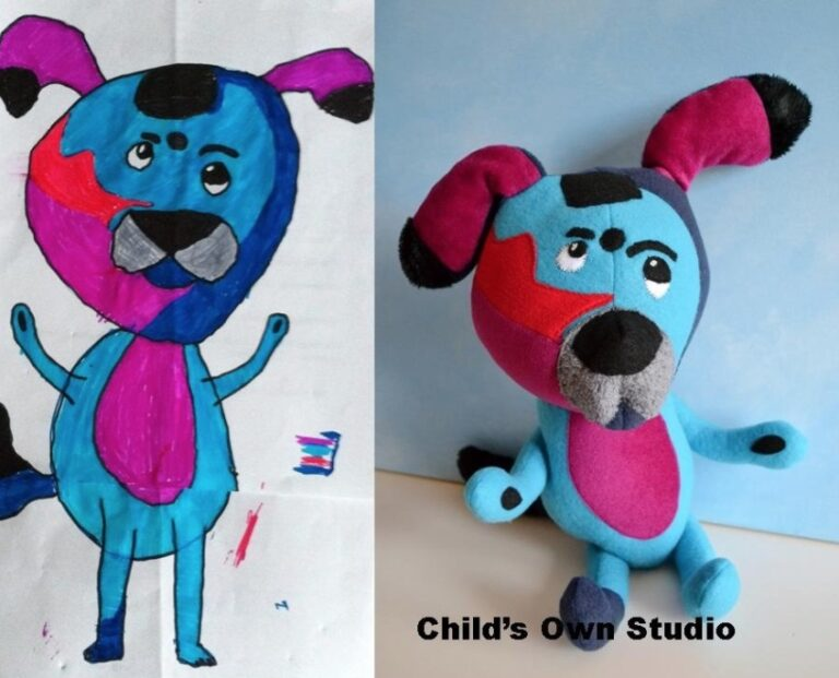 Turn Your Child's Drawing Into A Stuffed Toy