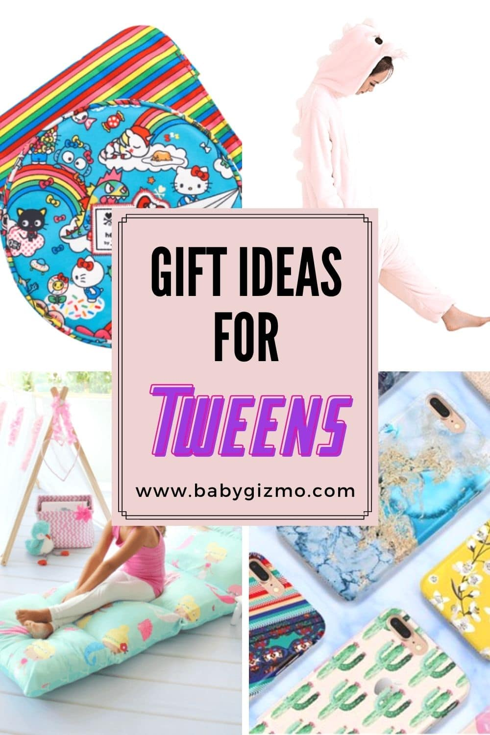 a variety of gift ideas for tweens
